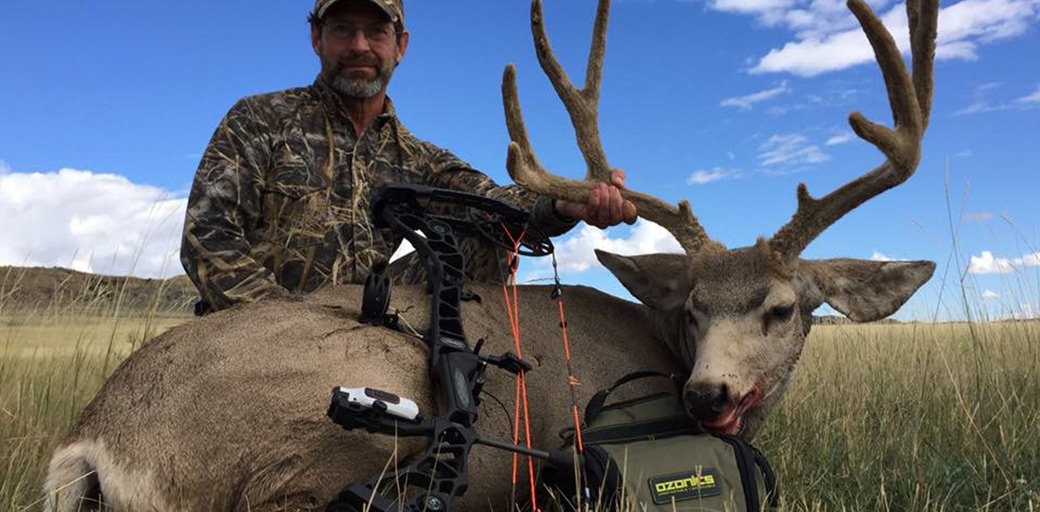 Brad Frost showing off his spot and stalk mule deer.