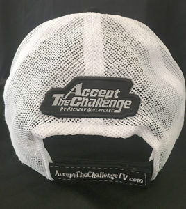 Back side of Accept The Challenge TV Hat